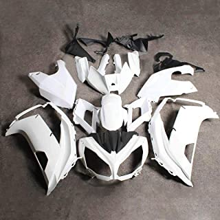 PROMOTOR Motorcycle Bodywork Fairing Kit Unpainted fairing set for Kawasaki NINJA 650R ER 6F 2012-2016 Tail Side Fairings Without Holes (19 Pcs)