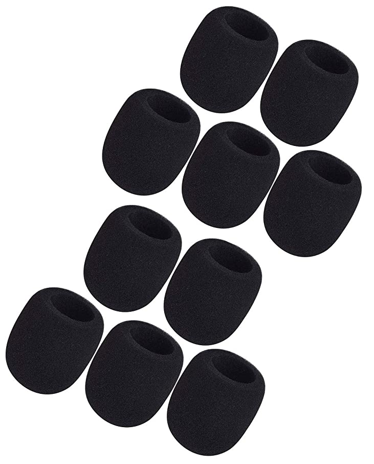 Boly 10 Pack Microphone Sponge Windscreen for SM58 Beta58a PG58 Microphone