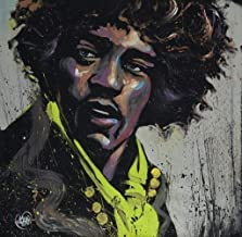 Hues of Hendrix Jimi Hendrix David Garibaldi Expressionist Art Square Cool Wall Decor Art Print Poster 24x24