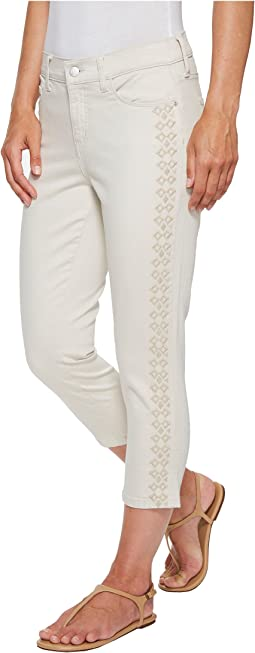 Alina Capris w/ Embroidery in Clay