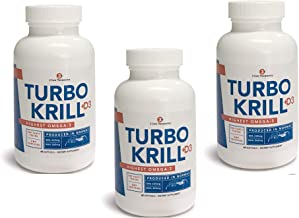 3Care Turbo Krill 2100mg [High Concentrate] Krill Oil Plus 600 IU Vitamin D Omega 3 Supplement 60 Count Softgels 3 Pack