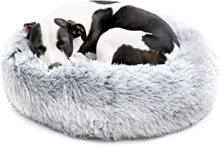 Barkbox 2-in-1 Memory Foam Donut Cuddler Dog Bed | Orthopedic Joint Relief Fur Crate Lounger for Dogs and Cats, Machine Wa...