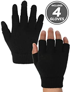 3-in-1 Touchscreen Magic Gloves - Versatile & Lightweight Thermal Knit Winter Gloves Designed for Texting, Driving, Runnin...