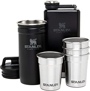 Stanley Stainless Steel Shot Glass and Flast Gift Set. Outdoor Adventure Pack with 4 metal shot...