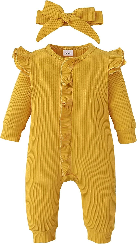 ZOEREA Newborn Infant Baby Austin Mall Some reservation Girl Long Romper Sleeve 0-18M Ruffle