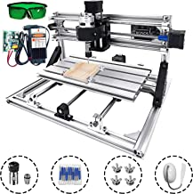 Mophorn CNC Machine 3018 Grbl Control CNC Router Kit 3 Axis PCB Laser Engraver 300X180X45mm With 5500mW Laser Head Module and Lamp