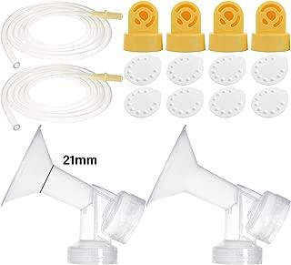Nenesupply Compatible Pump Parts for Medela Pump in Style Breastpump 21mm Breastshield Valve Membrane Tubing Not Original Medela Pump Parts Replace Medela Pumpinstyle Parts Replace Medela Accessories