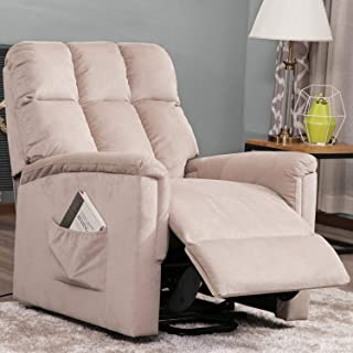 Power Lift Chair for Elderly Lift Recliner Sofa Electric Recliner Chairs with Remote Control Soft Fabric Lounge