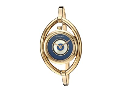 Tory Burch Evil Eye Bangle Watch (Gold TBW5000) Watches
