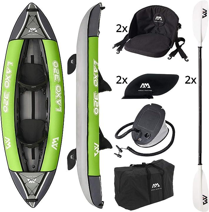 """Kayak gonfiabile a 2 posti in set laxo-320 2020 10`6 """"canoa kayak per 2 persone con pagaia LA-320"""