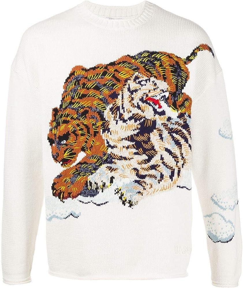 Kenzo fashion,felap.maglione per uomo,in 63% cotone, 30% poliammide, 5% acrilico, 2% lino FA55PU5083XI03