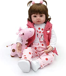 Reborn Baby Dolls, Realistic Newborn Baby Dolls, 18 inch Silicone Real Toddler Girl Lifelike