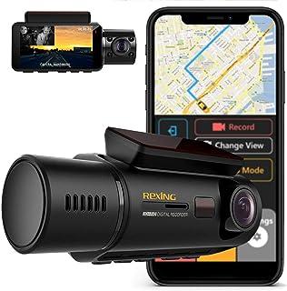 Rexing V3 Frente Dual Camera e cabina de infravermelhos Night Vision Full HD 1080p WiFi GPS, Estacionamento Monitor e King...