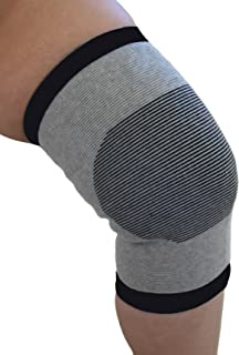 Knee Support Medium Grey/Black Bands Bamboo Pro 1 Pack