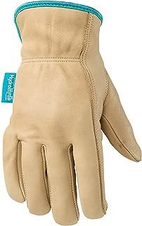 Women's Water-Resistant Leather Work Gloves, HydraHyde, Medium (Wells Lamont 1167M)