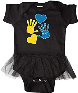 Down Syndrome Awareness with Handprints and Infant Tutu Bodysuit