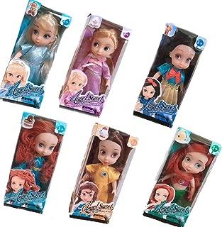 Nuoyi Mini-Salon Doll Princess Set(6pcs), Collector's Edition, Snow White / Bell / Mermaid