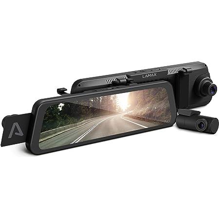 Lamax S9 Dual Vollbild Rückspiegel Dashcam Mit Full Hd Rückkamera Wi Fi App 9 66 Zoll Ips Display Hohe Qualität Nachtaufnahme Radarerkennung Gps Ldws Fcws Sprachsteuerung Auto