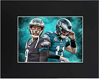 Philadelphia Eagles EAGLES NFL 2018 Super Bowl Champions Nick Foles Carson Wentz Football Team Art Print Picture poster 8x10 Matted Print Printed Picture Photograph Gift Wall Decor Display USA Seller