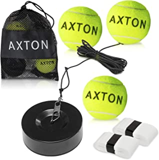 AXTON Solo Tennis Trainer Rebound Ball - Tennis Rebounder with 3 Tennis Balls - Tennis Trainer Ball with String - Tennis B...