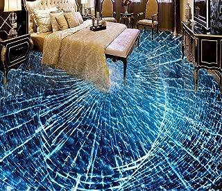 Creative Personality 3D Flooring Photo Wallpaper for Kids Room Living Room Broken Glass 3D Floor Decoration Mural Wallpaper-400280Cm