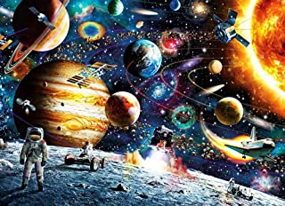 1000 Piece Space Jigsaw Puzzles DIY Adult Kids Outer Space Astronaut Puzzles, Cosmic Galaxy Grown up Puzzles Educational Games Gift Toy