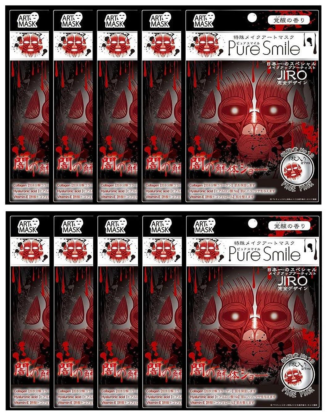 バブルリダクターローンピュアスマイル 特殊メイクアートマスク 被験者No13 ART13 1枚入 ×10セット