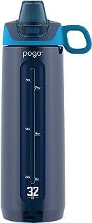 Pogo Active BPA-Free Tritan Plastic Leak-Proof Water Bottle with Soft Straw, 32 oz