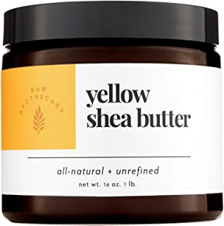 Raw Apothecary All-Natural Yellow Shea Butter (16 ounces)