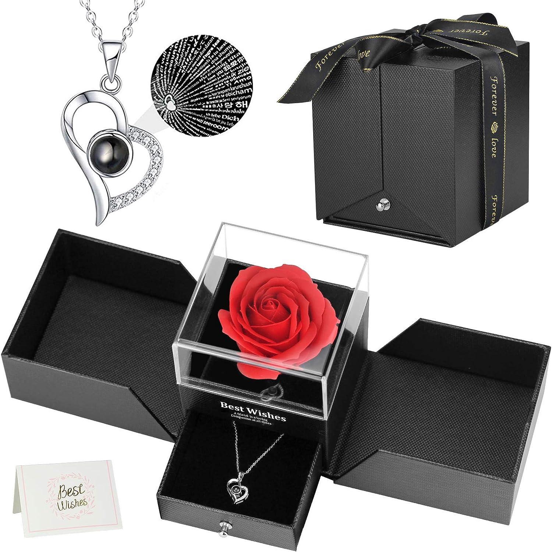 Mefeny Rose Necklace free Gift Set Love You Gi Oakland Mall I