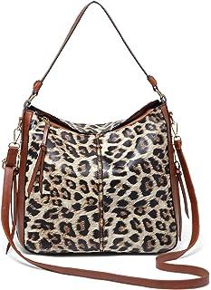 QUARKERA ليوبارد طباعة المحافظ وحقائب اليد للنساء أزياء السيدات شيتا هوبو الكتف حقائب حمل