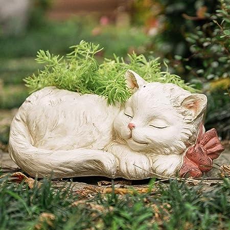 Creative Resin Succulent Flower Pots Container, Cute Animal Art Vase Flowerpot Planter Ornaments for Indoor Outdoor Garden