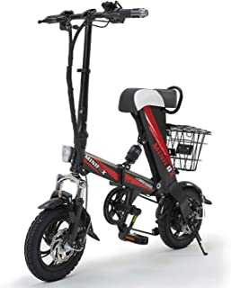 MEIYATU Electric Bike,Folding Electric Bicycle with 15-18 Miles Range, E-Bike Scooter 250W Motor Collapsible Frame Bikes for Adult