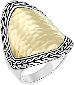 Classic Chain Hammered Heritage Marquise Ring