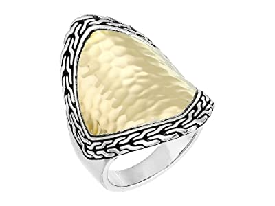 John Hardy Classic Chain Hammered Heritage Marquise Ring (Gold/Silver) Ring