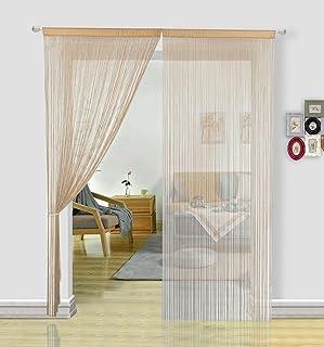 comprar comparacion HSYLYM - Cortinas de espagueti para puertas, puertas, ventanas, tratamientos y decoración del hogar (90 x 245 cm), poliést...