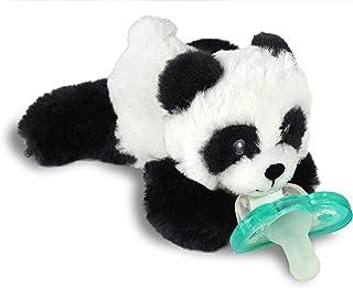 RaZbaby RaZbuddy JollyPop - Soporte para chupete con chupete extraíble para bebé, 0.0 ft, sin BPA, (Panda)