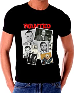 Wanted Mobsters Gangsters Al Capone John Dillinger John Gatto T Shirt
