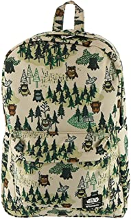 Loungefly x Star Wars Ewok Forest Print Nylon Backpack