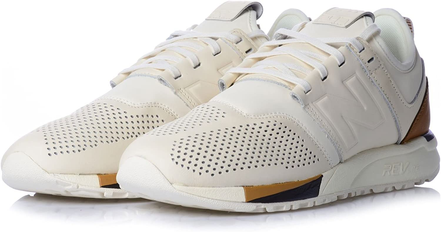 New Balance Men's 247 Luxe Classic White/Brown Mrl247be