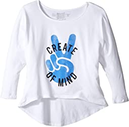 Create Peace of Mind High-Low 3/4 Sleeve (Big Kids)