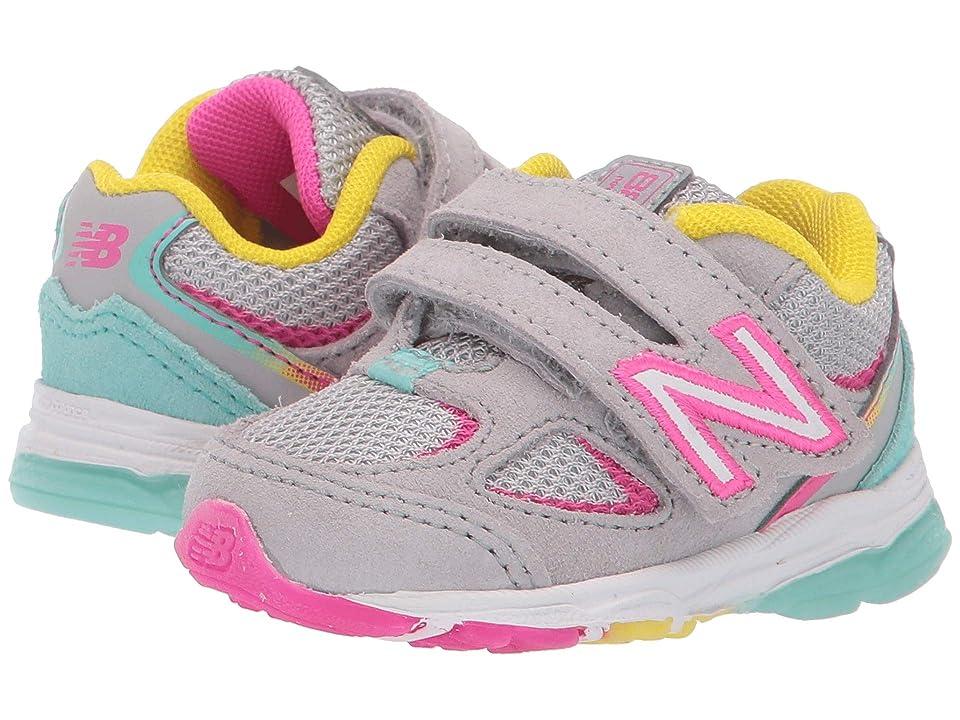New Balance Kids IO888v2 (Infant/Toddler) (Grey/Rainbow) Girls Shoes
