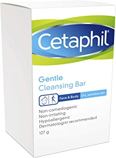 Cetaphil Antibacterial Gentle Cleansing Bar, 4.5 Ounce