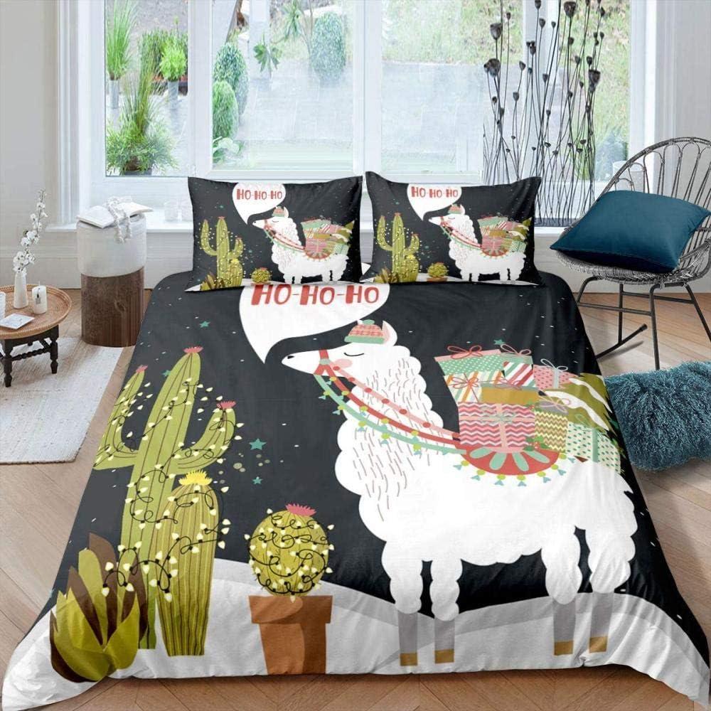 AWDDDER Duvet Cover Set Single Animal Christmas online shop cm Selling rankings White 135X200