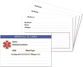 5-Pack Medical Alert ID Wallet Card Emergency 2.15 * 3.35 inch (5)