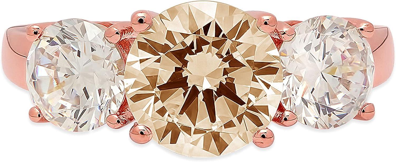 3.19ct Brilliant Classic Round Cut Solitaire Rapid rise Genuine stone Na Designer 3
