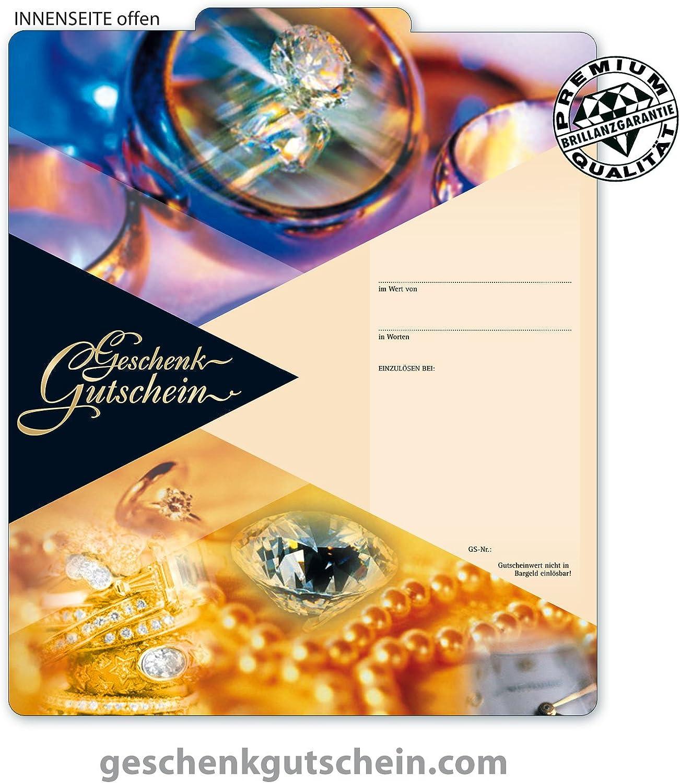 50 Stk. Premium Geschenkgutscheine Gutscheine zum Falten MultiFarbe  für Schmuckhändler, Juwelier, Goldschmied SC230, LIEFERZEIT 2 bis 4 Werktage  B00LA1YDMY   Sonderangebot