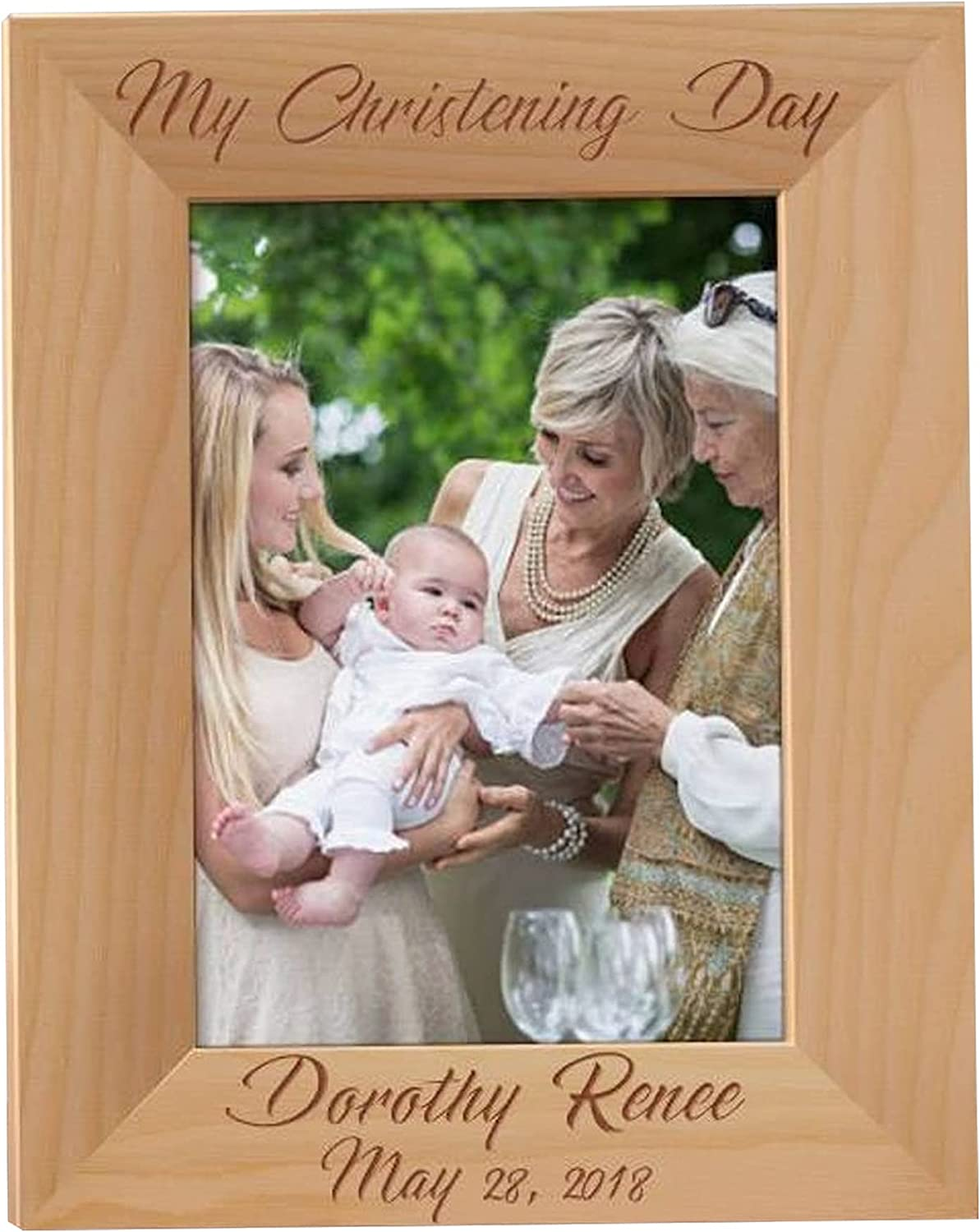 Christening Day Picture Frame Chri Frames Personalized Limited time sale Max 67% OFF