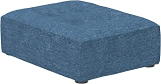 Marca Amazon -Alkove Elvas - Reposapiés de media altura para sofá modular 70 x 93cm azul marino