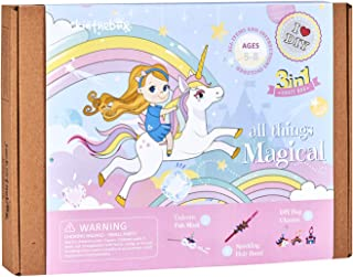 All Things Magical Craft Kit | Includes Beautiful Felt Unicorn Mask Kit | 3 Different Crafts-in-1 | Best Gift for Girls Ag...
